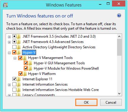 Windows 8.1 Hyper-V - Windows Features - WindowsWally